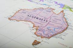 澳洲映射 图库摄影