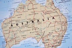 澳洲映射 库存图片