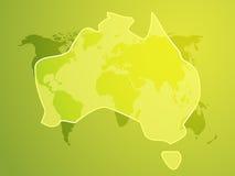 澳洲映射 免版税库存图片
