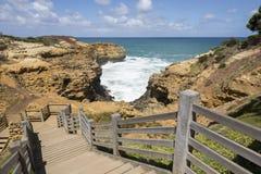 澳洲极大的洞穴海洋路 免版税图库摄影