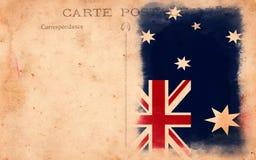 澳洲标志grunge老明信片葡萄酒 库存照片