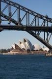 澳洲桥梁港口房子歌剧悉尼 库存照片