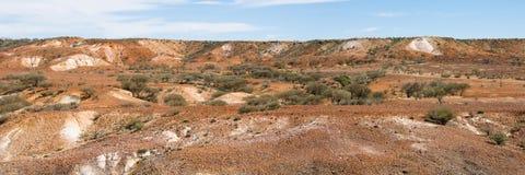 澳洲沙漠被绘的全景 免版税库存图片