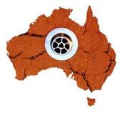 澳洲流失天旱水 免版税图库摄影