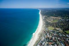 澳洲海岸线西部的珀斯 免版税库存图片