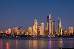 澳洲海岸金子天堂冲浪者 库存图片
