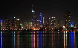 澳洲海岸金子晚上天堂qld冲浪者 免版税图库摄影