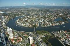 澳洲海岸金子 免版税库存图片