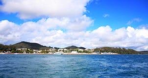 澳洲海洋terrigal视图 免版税库存图片