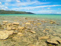 澳洲海滩天堂 免版税库存图片