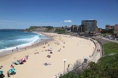 澳洲海滩新堡 库存图片