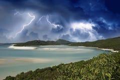 澳洲海滩颜色whitehaven 免版税库存图片