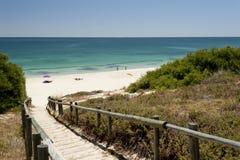 澳洲海滩cottesloe西部北部的珀斯 库存图片
