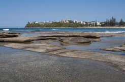 澳洲海滩moffat 库存照片
