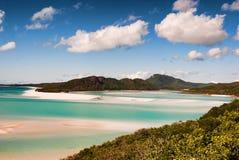 澳洲海滩whitehaven 免版税库存图片