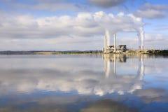 澳洲湖liddell nsw发电站 免版税库存照片