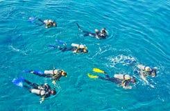 澳洲给旅游业带来路线美元水肺 免版税库存照片
