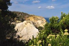澳洲著名形成极大的海洋路岩石 免版税图库摄影