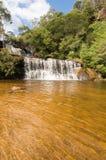澳洲蓝色山瀑布 库存照片
