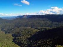 澳洲蓝色山 库存照片