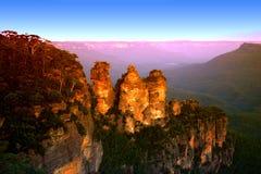 澳洲蓝色山nsw 图库摄影