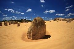 澳洲西方沙漠的石峰 库存照片
