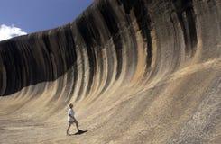 澳洲西部岩石的通知 免版税库存图片