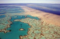 澳洲障碍极大的礁石 库存图片