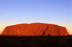 澳洲ayers中央岩石 免版税库存图片