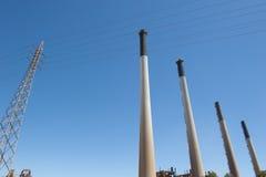 澳洲kwinana西部的发电站 免版税库存照片