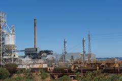 澳洲kwinana西部的发电站 图库摄影