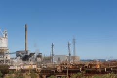 澳洲kwinana西部的发电站 库存图片