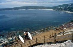 澳洲margaret天堂西部河的冲浪者 免版税库存照片