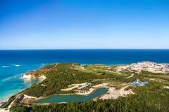 澳门海滩鸟瞰图  库存照片