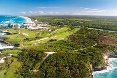 澳门海滩鸟瞰图  免版税库存照片