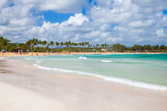 澳门海滩,多米尼加共和国 免版税图库摄影
