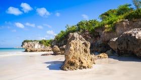澳门的沿海岩石靠岸,自然风景 免版税库存图片