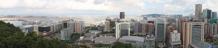 澳门都市风景全景,中国 免版税图库摄影