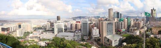 澳门都市风景全景,中国 免版税库存照片