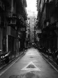 澳门,中国狭窄的街道  免版税库存图片