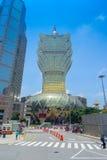 澳门,中国11日2017年:美丽和偶象旅馆盛大里斯本是一家非常大旅馆和餐馆,也最老 免版税库存图片