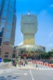 澳门,中国11日2017年:美丽和偶象旅馆盛大里斯本是一家非常大旅馆和餐馆,也最老 免版税库存照片