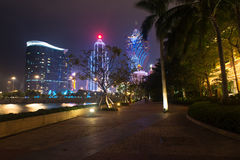 澳门,中国- 2014年 10 15 :澳门-亚洲的赌博的首都 著名盛大里斯本旅馆的照片 库存照片