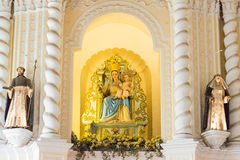 澳门-2015年12月13日:圣Dominic的教会(世界遗产名录站点) 免版税图库摄影