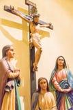 澳门-2015年12月13日:在圣Dominic的教会(W的耶稣在十字架上钉死 免版税库存照片