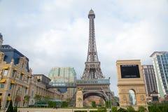 澳门- 10月29日:巴黎人澳门旅馆手段在2016年10月29日的澳门 免版税库存照片
