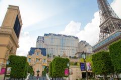澳门- 10月29日:巴黎人澳门旅馆手段在2016年10月29日的澳门 免版税库存图片