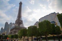 澳门- 10月29日:巴黎人澳门旅馆手段在2016年10月29日的澳门 图库摄影