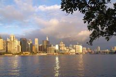 澳洲亲爱的港口全景悉尼 库存图片