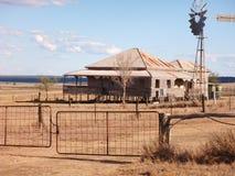 澳洲农舍在内地昆士兰 库存照片